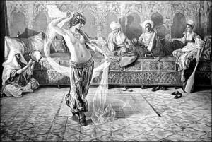 первое исполнение танца живота