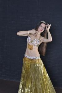 "костюм для танца живота ""белое золото"""
