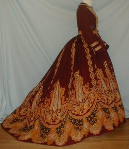 Платье середина 19 века