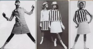 А это уже Франция. Модели Андре Куррежа. Футуристический стиль, мини-юбки - очень смело было в то время.