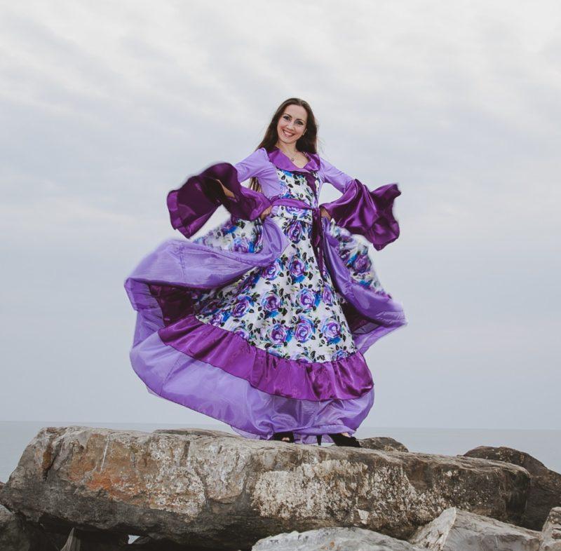 """Цыганский костюм """"Фиалковые розы"""""""